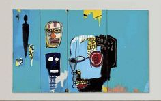 Jean Michel Basquiat, Blue Heads, 1983. Acrylic and oilstick on canvas