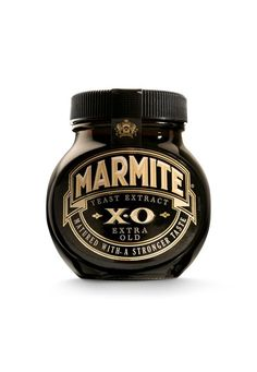 Limited Edition Marmite XO Extra Old Matured longer for a stronger taste jar Marmite Cool Packaging, Wine Packaging, Packaging Design, Marmite Recipes, Wine Recipes, Adel Verpflichtet, Cream Liqueur, Yeast Extract, Acquired Taste