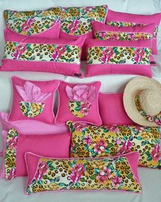 Cute pillow set all made from one REALLY ugly shirt!