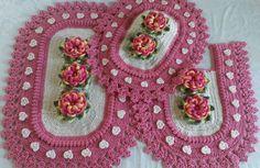 Ana White, Bathroom Sets, Blanket, Ideas, Bb, Patterns, Crochet Carpet, Cat Mat, Crocheting