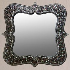 Mina Mirror - fab.com - $400 24 x 24   Italian glass mosaic border