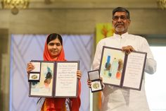 Malala was a co-recipient of the Nobel Peace Prize on December 10, 2014 with Indian child rights campaigner Kailash Satyarthi. Malala says she accepted the prize on behalf of the world's children and she will continue to work for education until every child can go to school. - See more at: https://www.malala.org/malalas-story#sthash.rwCLllUI.dpuf