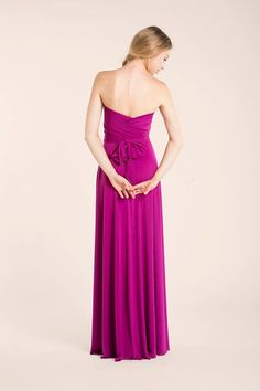 Orchid Long Infinity Dress, orchid bridesmaid, pink gown, bridesmaid dresses, weddings, evening long dress, prom dresses, bridesmaid pink  The standard