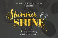 Shimmer & Shine: 100% Vector Gold by Vintage Design Co. on Creative Market