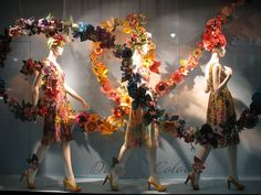 Beautiful Paper Sculptures used in a display window  Origami Sightings - Other Advertisements