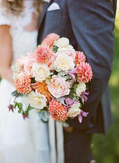 Gorgeous bouquet: http://www.stylemepretty.com/new-york-weddings/montauk/2015/05/28/romantic-garden-inspired-montauk-wedding/   Photography: Robert & Kathleen - http://www.robertandkathleen.com/