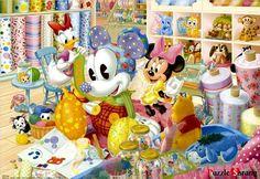 "Jigsaw Puzzles 1000 Pieces ""Mini and Daisy making dolls"" / Disney / Tenyo"