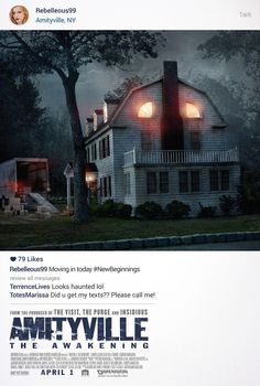 Amityville: The Awakening DVD Release Date November 2017 Horror Movie Posters, Horror Movies, Horror Film, Film Posters, Internet Movies, Movies Online, Breaking Bad, Amityville The Awakening, Jennifer Jason Leigh