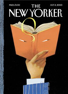 """The New Yorker - Monday, October 2000 - Issue # 3907 - Vol. 76 - N° 29 - Cover """"Page-Turner"""" by Ana Juan The New Yorker, New Yorker Covers, Library Posters, Image Deco, Page Turner, Thing 1, My Favorite Image, Open Book, Illustrations"""