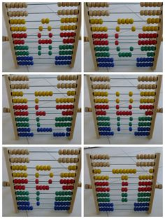 Abacus Activities for Beginners - encourage letter, shape and color recognition, counting & more