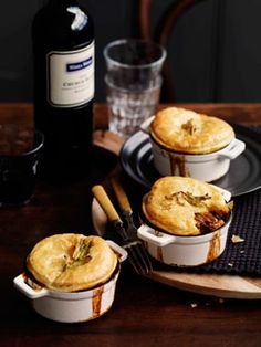 Beef and Guinness pot pies