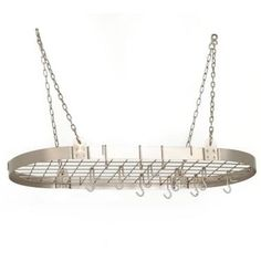 Nickel Hanging Pot Rack. Lehmans.com