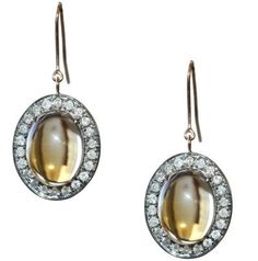 Meredith Marks Kowloon citrine cabochon earrings