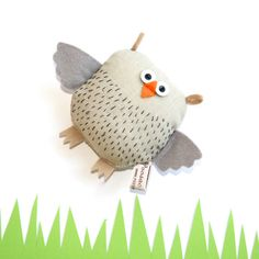 Handmade Toy Owl Reserved Listing for Jer Soft Toy di poosac