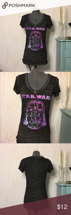 Awesome Star Wars Tee This EUC Star Wars tee is super soft. It's a medium but it's long. Approximately 24 3/4 down the back. It's sheer Fifth Sun Tops Tees - Short Sleeve