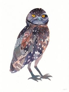 Burrowing Owl by Etsy seller unitedthread