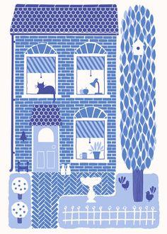 The cutest little town house. By Lisa Jones.