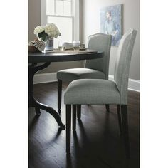 Camelot Nailhead Dining Chair Milford Dove