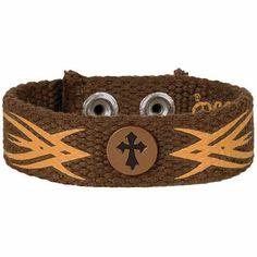 Tribal Cross Faith Gear Canvas Bracelet