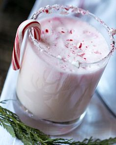 Holiday Peppermint Punch. When you click on the link. it shows the peppermint is peppermint ice cream. Yum!