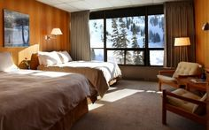 Slope side room at Alta Lodge