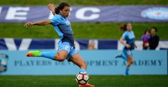 Late hat-trick from Sam Kerr doubles delight of historic night for Sky Blue Double Delight, Jersey Girl, One Team, Soccer Players, Kansas City, Kicks, Sky, Running, Night