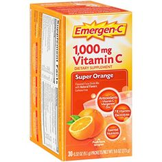 Emergen-C Dietary Supplement with 1000mg Vitamin C (Super Orange Flavor, 30-Count 0.32 oz. Packets) * Find out more about the great product at the image link.