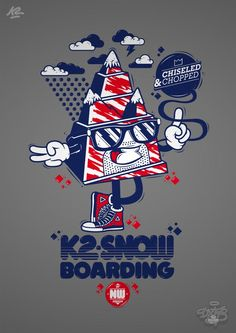 K2 Snowboard Design and T-Shirt Illustrations by DXTR