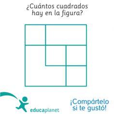 Acertijo pasatiempo contar cuadrados niños  #acertijo #pasatiempos #lógica…