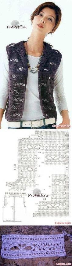 Crochet vest chart pattern