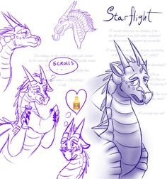 Sketches - Starflight (WoF) by StarWarriors.deviantart.com on @DeviantArt