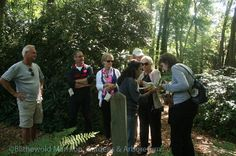 Exploring the bosquet on our sensory garden tour of Blithewold Mansion in September 2012