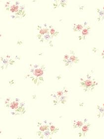 Norwall Wallcoverings Inc Pretty Prints IV x Rainbow Floral Wallpaper Color: Cream / Purple / Pink Spotted Wallpaper, Daisy Wallpaper, Wallpaper Roll, Pattern Wallpaper, Wallpaper Borders, Bunch Of Flowers, Traditional Wallpaper, Floral Bouquets, Vintage Paper