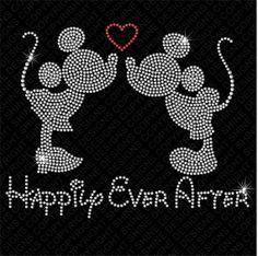 Mickey & Minnie Happily Ever After Disney Rhinestone Iron On Transfer - DIY Rhinestone Heat Transfer