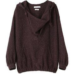 Étoile Isabel Marant Isa Hoodie ($480) ❤ liked on Polyvore featuring tops, hoodies, sweaters, shirts, hooded pullover sweatshirt, cowl neck hoodie, sweater pullover, cowl neck hoodies and sweatshirt hoodies