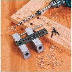Woodworking Wood Pocket Hole Drill Guide Jig Tool Kit Pockethole Face Frame