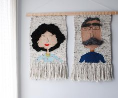 Weaving Art of People and Flowers by Olive And The Boy Tablet Weaving, Weaving Art, Tapestry Weaving, Loom Weaving, Crochet Wall Hangings, Tapestry Crochet, Weaving For Kids, Creative Textiles, Embroidery Monogram