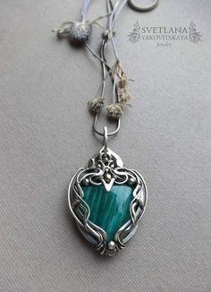Amazonite necklace Amazonite pendant Silver by sweetsjewelryshop