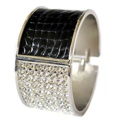 black alligator and swarovski cuff bracelet by UNEARTHED™, via Flickr
