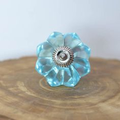 Unique Blue Crystal Cabinet Knobs