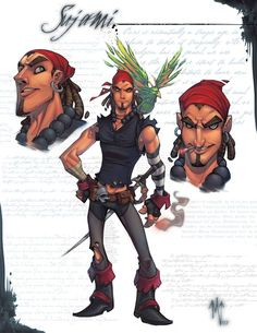 """This is the pencils for my comic character """"Sandoje"""" this is the main guy from the gypsy/pirate gang. and HB pencils Game Character Design, Character Design Inspiration, Comic Character, Character Concept, Cute Characters, Fantasy Characters, Cartoon Characters, Pirate Cartoon, Pirate Art"""