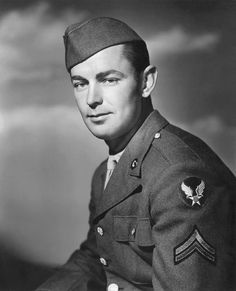 Actor, Cpl Alan Ladd US Army Air Corps (Served 1943-1943) Short Bio: After initially being classified 4-F in World War II due to stomach problems, Ladd was later instructed to begin military service in January of 1943. He joined the Army Air Forces and sent to a camp at Walla Walla, Washington, attaining the rank of corporal. But in mid-November 1943, he was given an honorable medical discharge due to an ulcer and double hernia. http://airforce.togetherweserved.com/profile/172378