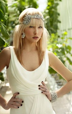 Vintage Glam Bride headband
