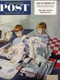 Bildresultat för norman rockwell Post covers 1953