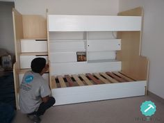 Bunk Bed Rooms, Bunk Beds With Stairs, Kids Bunk Beds, Room Ideas Bedroom, Kids Bedroom, Diy Bedroom Decor, Cabin Beds For Kids, Kids Bed Furniture, Studio Decor