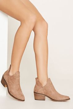 Faux Suede Booties   Forever 21 - 2000153394