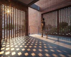 artfully built brick residence in bangkok by junsekino