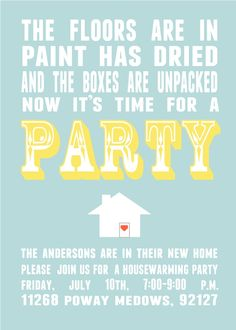 I Love These House Blessing Invitations Make A Party Of Your