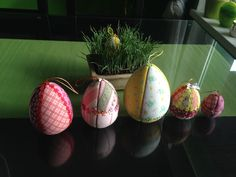 Easter patchwork eggs