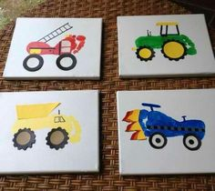 Footprint Trucks! An awesome keepsake and fun for the kids.